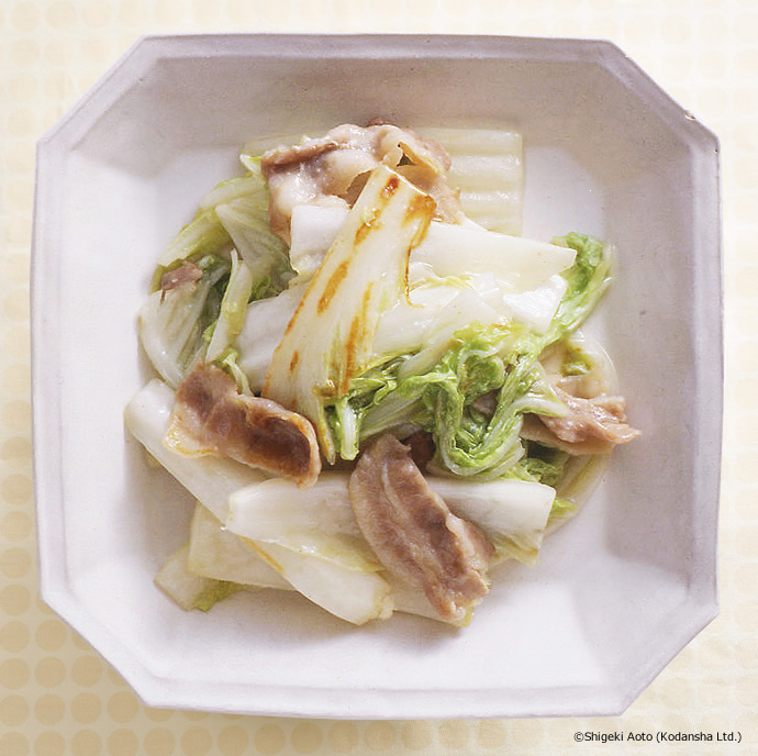 Steam Cooked Chinese Cabbage and Pork