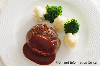 Hamburg steak with shiitake mushroom
