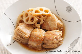 Stewed Lotus Roots and a Soft Boiled Cube of Pork
