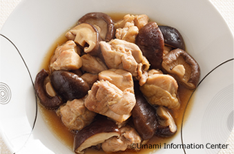 Simmered Chicken Thigh and Shiitake Mushrooms