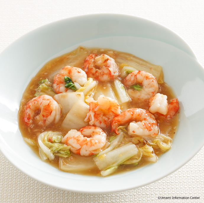 Prawn and Chinese Cabbage Stir-fry