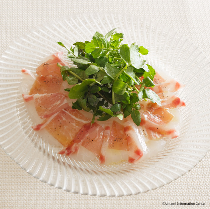 Sea Bream and Cured Ham Carpaccio