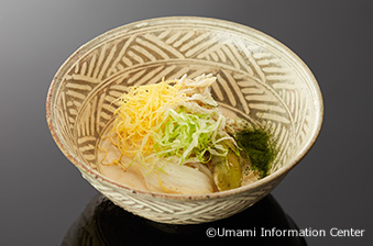 2. Mitsuru SAIKI, the owner chef of Kyo-ryori Jikishinbo Saiki : JAPANESE STYLE REI-MEN, COLD NOODLES