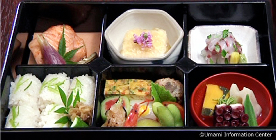 Bento box high in variety yet low in calories
