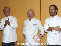 (from left) Three chefs: Nobu san, Toshiro san and Pedro
