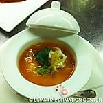 CHUPE CANGREJO / chawanmushi, tomato sauce (by TOSHIRO)