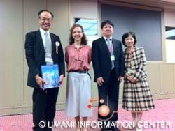 Group Picture of Dr.Sasano, Dr.San Gabriel, Dr.Shoji and Dr. Sato (L-R