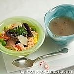 GOHAN (Kyoto style Chirashi sushi) and TOME-WAN (Gobo soup)