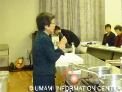 Opening speech by Ms. Ikuko Yoshida, Principal of the Niigata Cooking Technical School