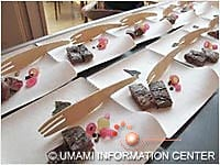 Tasting sample by chef Shimomura